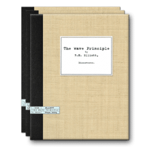 R.N. Elliott 3 Volume Set: The Wave Principle (1938), The Wave Principle - The Original 12 Financial World Articles (1939), Nature's Law: The Secret of the Universe (1946) by R.N. Elliott