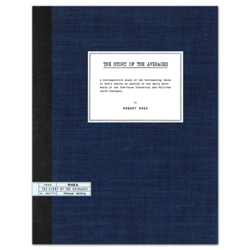 The Story of the Averages (1934) by Robert Rhea