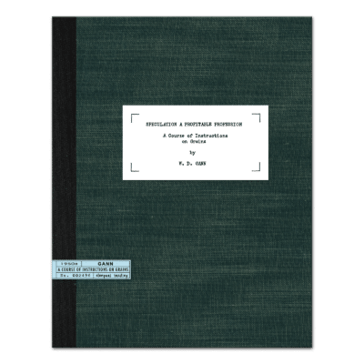 The W.D. Gann Master Commodity Course
